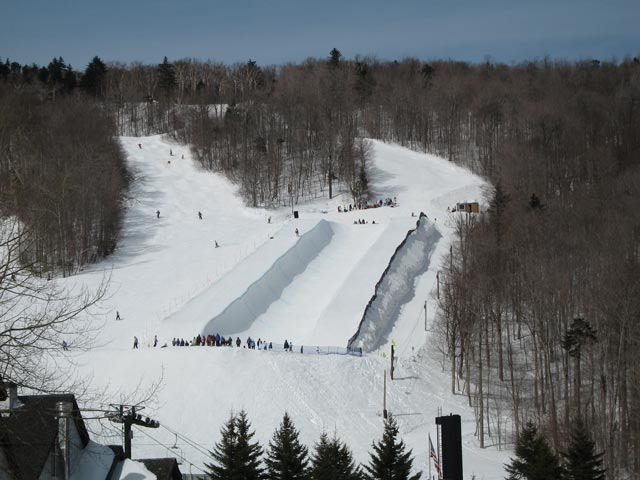 The Superpipe on Bear Mounatin off of Dream Maker