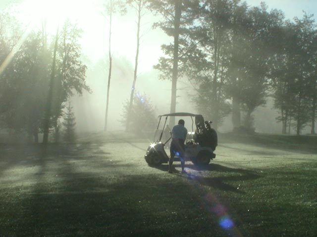 Moisture rising during an early morning round at Green Mountain National