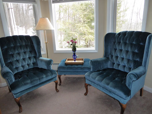 2 chairs in bay window in Room 9